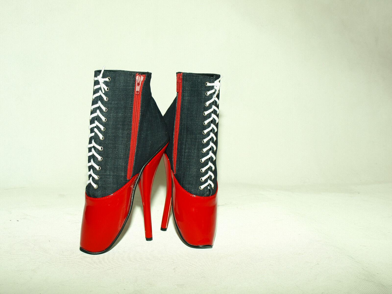 High heels stiefel  lack 37-47 pu-jeans ballet  Größe 37-47 lack  heel 20cm  POLAND-produkt b4c08b
