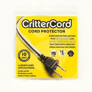 crittercord cord protector stop pets chewing 2 sizes available ebay. Black Bedroom Furniture Sets. Home Design Ideas