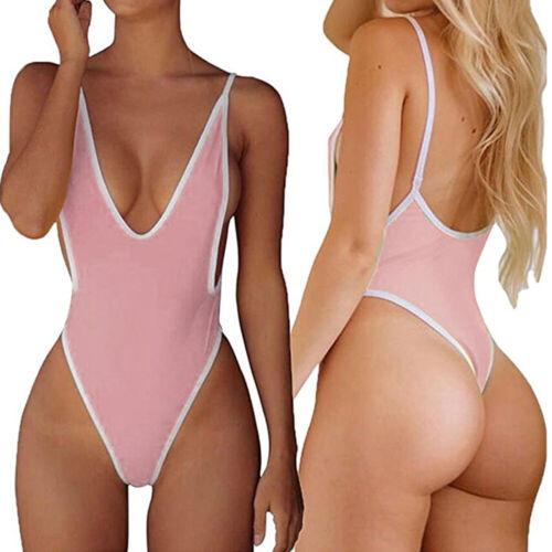 Women Bikini One-Piece Swimwear Backless Suit Thong Swimsuit Leotard Monokini
