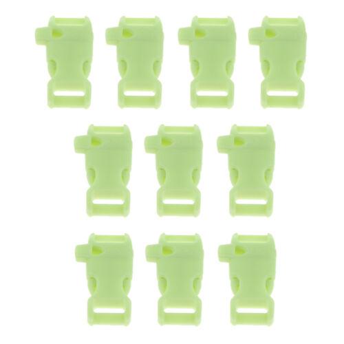 10pcs Kunststoff Schnallen Gurtband Schnalle Clips mit überleben pfeife