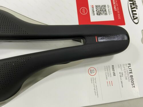 Selle Italia Flite Boost Kit Carbonio Superflow 135x250mm S3 Carbon Rail Saddle