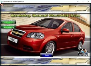 factory service manual fsm repair manual for chevrolet aveo 2011 rh ebay com 2009 chevy aveo car manual Aveo Car 2015