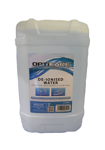 DEIONISED WATER 25L DE IONISED CAR BATTERY STEAM IRON DISTILLED DEMINERALISED