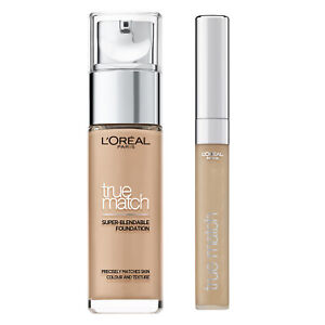 L'Oreal Paris True Match Blend Liquid Foundation + Concealer 4N Beige