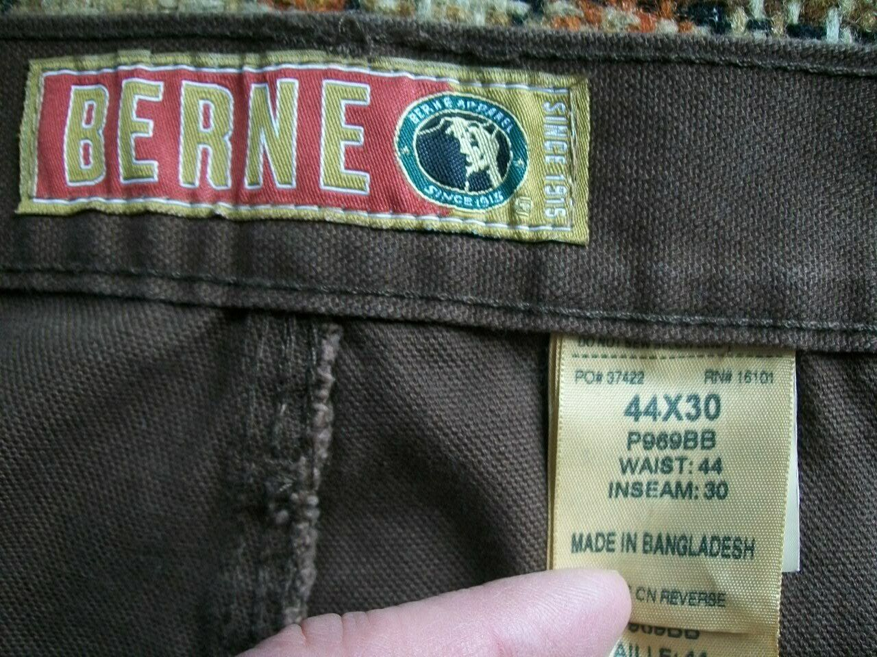 Berne LOT OF TWO Mens 44x30 (Actual 44x29 and 29.5) Brown Carpenter Pants