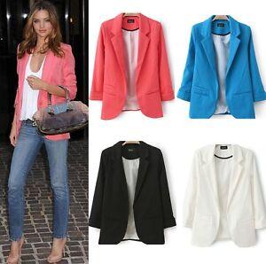 HOT-Womens-Ladies-Candy-Color-Stylish-Suit-Jacket-Blazer-Tops-Coat-6-8-10-12-14