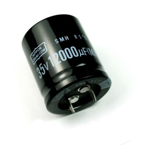 2pcs Nippon Chemi-Con SMH 12000uF 35v Radial Electrolytic Capacitor NCC