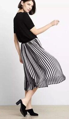 NWT Eileen Fisher Recycled Polyester Ombre Pleated Skirt PL 248