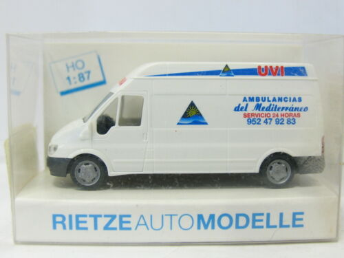 RIETZE 51052 Ford Transit Ambulancias OVP 1:87 MW 6072
