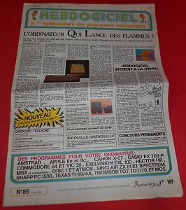 Magazine-Hebdogiciel-n-85-31-Mai-85-Amstrad-MSX-Atari-Commodore-NO-TILT-JRF