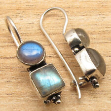 LABRADORITE Gems New Cute Design Cool Fashion Earrings 925 Silver Plated Jewelry