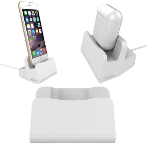1 of 1 - DIY Desktop Charging Stand Cradle Charger Dock For Airpod iPhone 5 6 7 8 Plus X