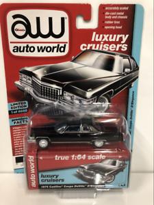 1976-Cadillac-Coupe-Deville-D-Elegance-Sable-Noir-1-64-Scale-Auto-World-AW64192