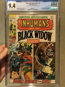 Amazing Adventures #1/Inhumans & Black Widow/Rare Double Cover/CGC 9.4