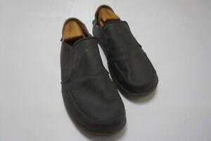 Olukai Nohea Canvas Gray Slip On Mens Casual Shoes Sz 11.5