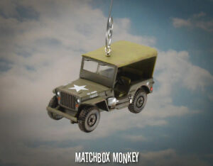 Us Army Jeep Willys Military Korean Vietnam War Era Usa Christmas Ornament Mash Ebay