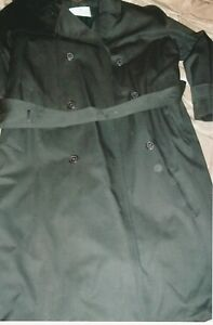 Stylish-Bill-Blass-Men-039-s-Trench-Coat-Size-44-Regular-Color-Black
