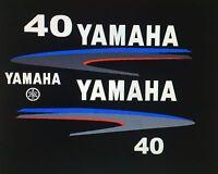 Yamaha 40 / 50 / 60 Hp Outboard Decal Sticker Kit Marine Vinyl