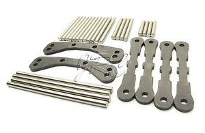 Traxxas VXL Bandit Front /& Rear Suspension Arms Hinge Pin Set /& Tie Bar A-Arm