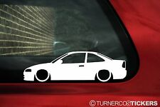 2x LOW Mitsubishi Colt Mirage LS coupe (5th) N/Spoiler outline sticker,JDM Decal