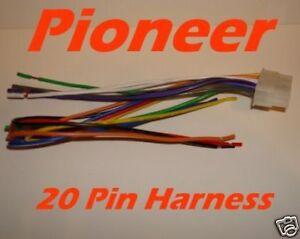 pioneer wire harness deh p720 p520 p600 p700r 20 pin ebay rh ebay com Pioneer Deh Wiring Harness Diagram Pioneer Deh Wiring Harness Diagram