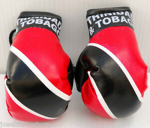 "TRINIDAD & TOBAGO Mini Boxing Gloves 3.5 x 2"" These Are the Best Ornament Only!"