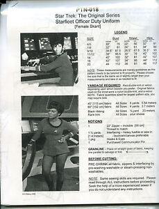 NEWLY-REVISED-Star-Trek-TOS-Uhura-Uniform-Pattern-Dress-PTN-018-8-piece-style
