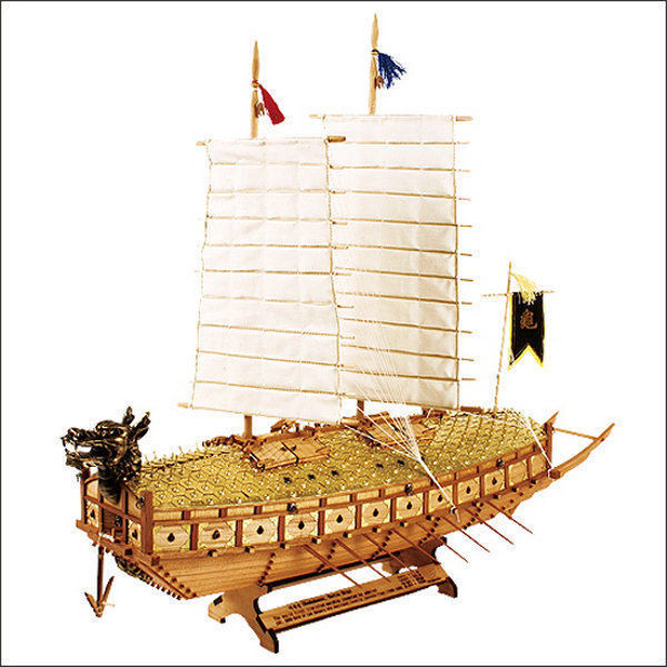 1 100 Scale KOREA Turtle Warship Wooden Model Assembly Kit Yi Sun-Sin_AR