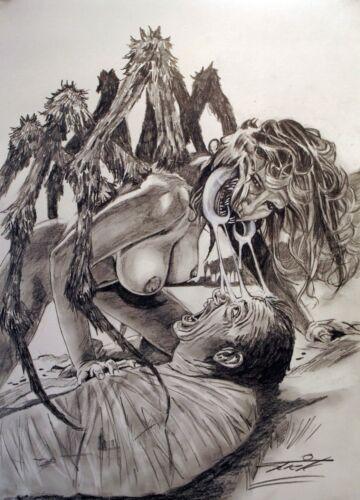 spiderwoman.ORIGINAL A.4 PRINT.BY rick melton.