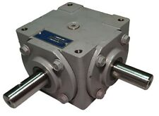 40 HP Right Angle Bevel Gearbox w/Crosshole & Keyed Shaft CW/CW 1:1