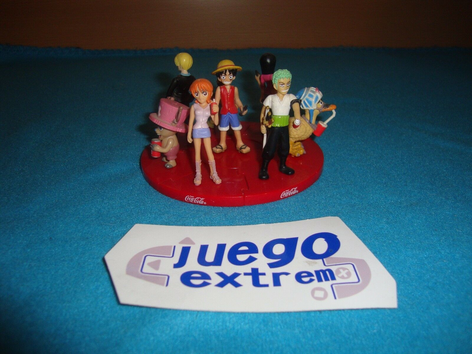 8 Figuras One Piece Exclusivas Coca Cola Gashapon Puzzle Set Original Collection