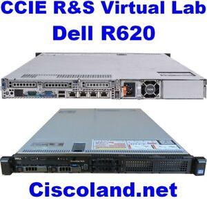 Details about Cisco CCIE R&S Virtual Lab INE Dell R620 ESXi 6 5 128GB RAM  500GB SSD GNS3 VIRL