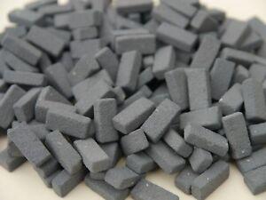 200-1-12th-Scale-Miniature-Dolls-House-Grey-Blue-Briquettes-Briquette-Bricks