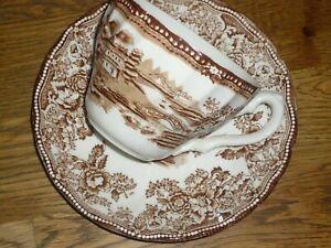 Kaffeetasse mit Untere Myott Tonquin Brown Braun