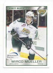 buy online 95006 078fb Details about 2013-14 Everett Silvertips (WHL) Mirco Mueller (New Jersey  Devils)