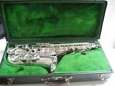 SUPERB SELMER-PARIS BALANCED ACTION ALTO 99% ORIGINAL SILVER. ALL NEW PADS!