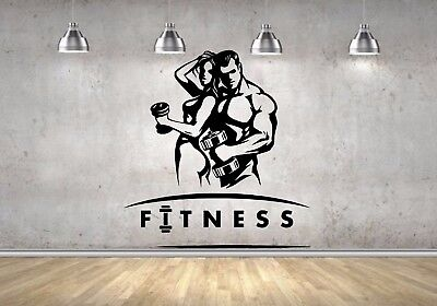 couple sport wall mural vinyl decal sticker decor gym