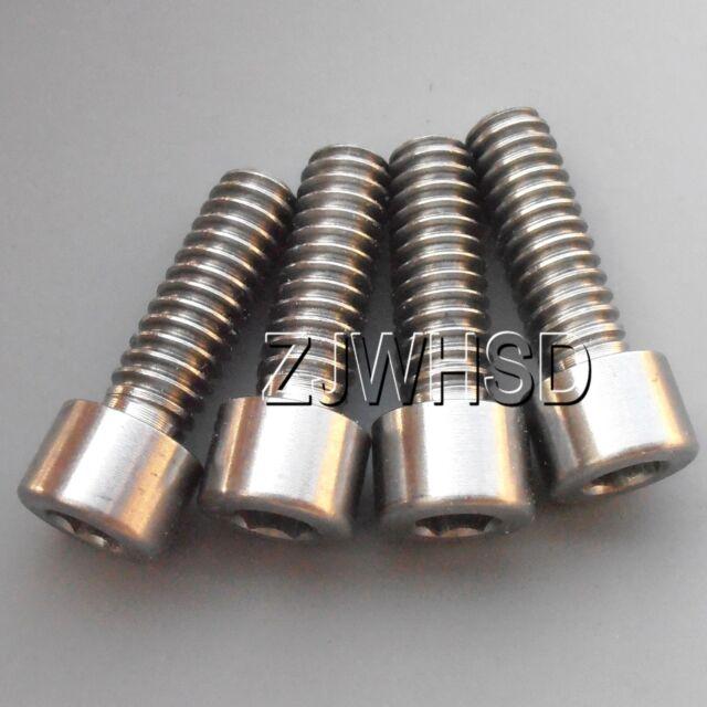 """4pcs 1/4""""- 20 x 3/4"""" Titanium Ti Screw Bolt Allen Hex Socket Cap Head USA Thread"""