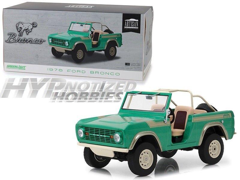 Disfruta de un 50% de descuento. verdelight 1 18 1976 Ford Bronco picos picos picos gemelos Die-Cast verde 19034  conveniente