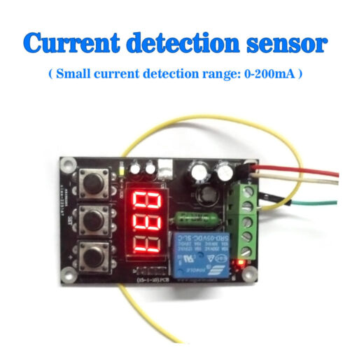 Small Current DC 0200mA Detection Relay Outputs With Setting Function