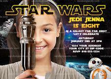 Item 6 Personalize Star Wars Invitation Rey Party Force Awakens Birthday Invite