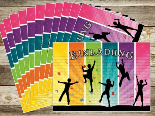 Einladungskarten zum Kindergeburtstag Bouldern Einladungen zum Klettern