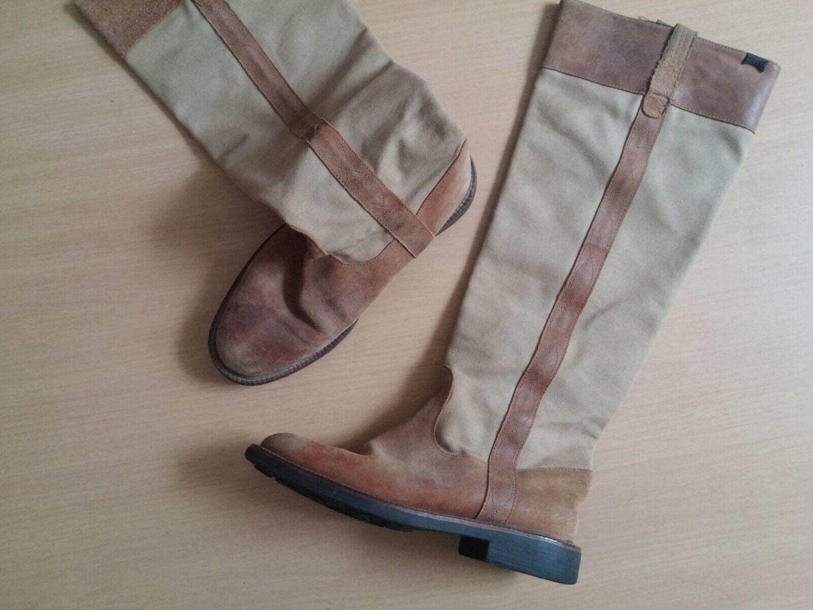 Damen Schuhe Sommer Stiefel CAMPER CAMPER CAMPER Gr 38 cognac braun Echtleder  sehr gefragt sein