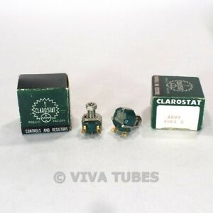 NOS-NIB-Vintage-Lot-of-2-Clarostat-48M9-Potentiometers-5-MEG-ohm