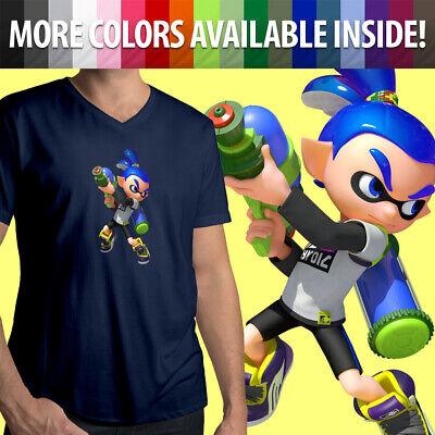 Super Smash Bros Ultimate Splatoon Inkling Squid Girl Gamer Unisex Tee T-Shirt