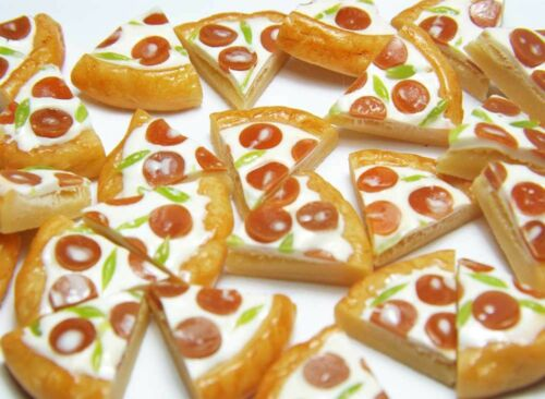 Doll Mini Tiny Food WHOLESALE 20 Dollhouse Miniature Pepperoni Pizza Slices
