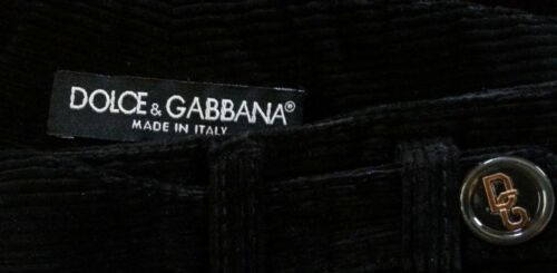 in velluto corto Nero a Dolce 6 23 Pantalone Gabbana Sz coste mint XTHwx7