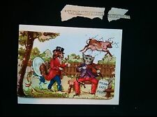 #Original 1800's Victorian Lot of 2 Cow Jumped Over the Moon Die Cut 5.5 x 3.75""