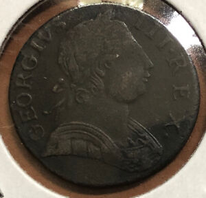1774-Great-Britain-1-2-Penny-KM-601-Copper-Collectible-Coin