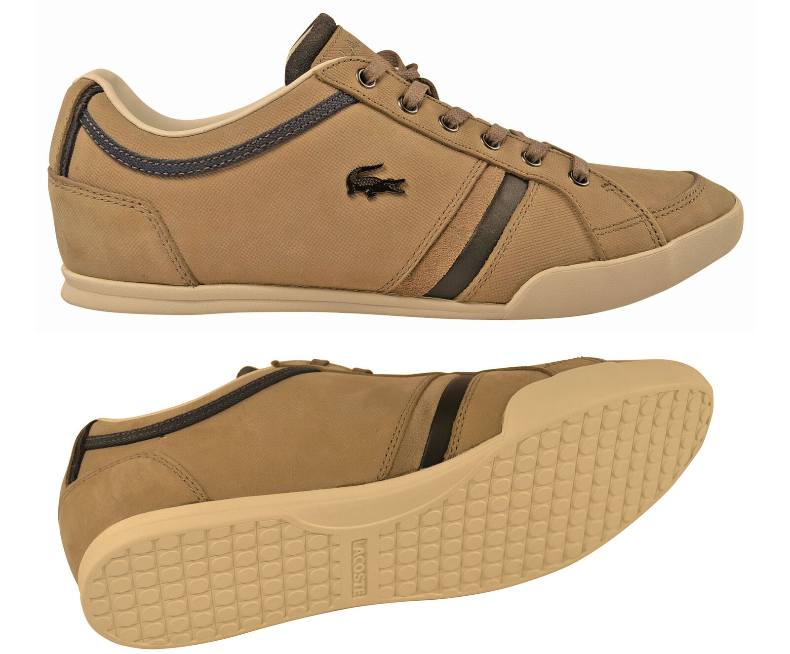 Lacoste Rayford 4 SRM LT brown Schuhe Sneaker braun Gr. 46.5